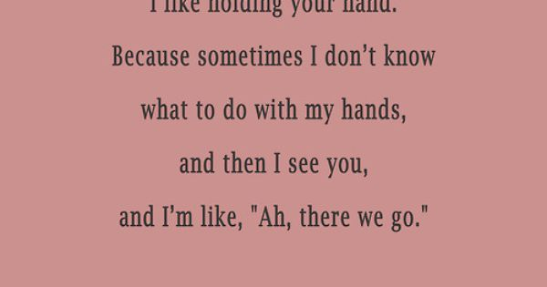 Daily Odd Compliment: hand holding