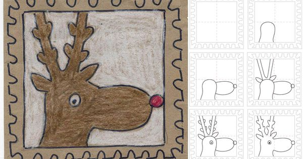 Art Projects for Kids: How to Draw Rudolf the Reindeer