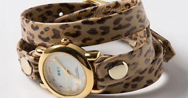 Anthro leopard print wrap watch