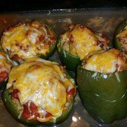 Stuffed Green Peppers Recipe Stuffed Green Peppers Stuffed Peppers Green Pepper Recipes