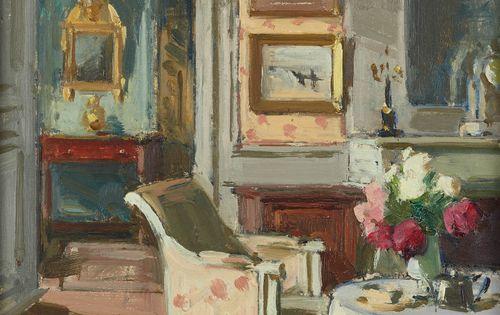 Sc ne d 39 int rieur date unknown paul jean hughes 1891 for Scene d interieur blois