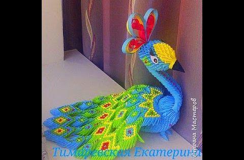 Tutorial Peacock 3D Origami - Hướng dẫn xếp công Origami ...