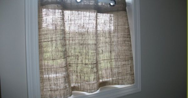 Burlap cafe curtains kitchen dining room pinterest cafe curtains