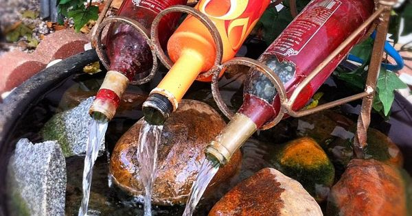 Use your creativity in your garden & put this DIY Wine Bottle