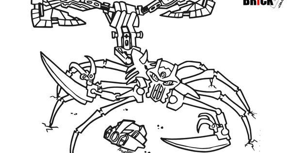 Disegni da colorare - LEGO Bionicle - Skull Scorpio ...