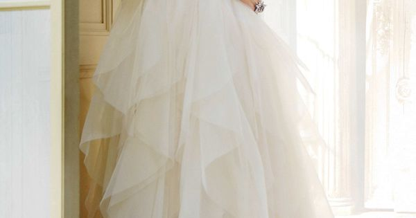 Hayley Paige Wedding Dress | Crystal Straps | See more about Wedding Dressses, Crystals and Wedding.