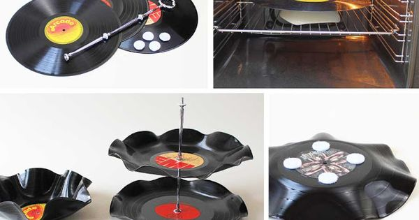 etagere aus schallplatten my diy projects pinterest schallplatte kreative ideen und basteln. Black Bedroom Furniture Sets. Home Design Ideas