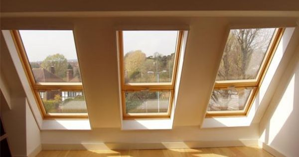 These velux roof lights allow massive amounts of light to for Velux glass