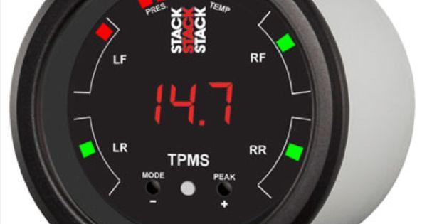 Tpms 52mm Display Gauge Small Tire Pressure Monitoring System Gauges Vehicle Gauge