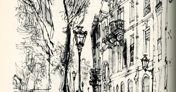 """Ronald Searle's sketches from """"The Paris Sketchbook"""""""