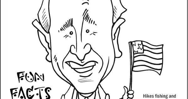 George W Bush Coloring Page