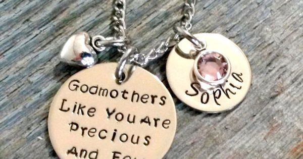 Godmother Gift Goddaughter Gift Long Distance Gift: Personalized Godmother Necklace-Godmother Gift-Godmother