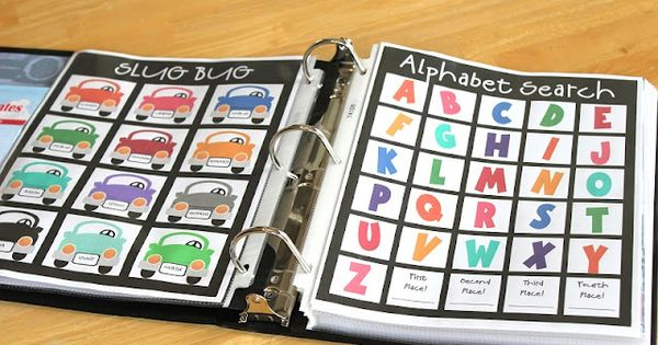 FABULOUS! Free Printables and ideas for road trip binders full of fun