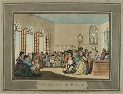 Rowlandson The Pump Room Comforts Of Bath 1798 With Images