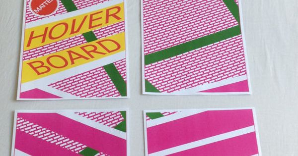 Back To The Future Costume Hoverboard Stickers Decals