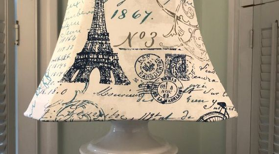 Eiffel Tower Lamp Shade Paris Lamp Shade French Script Lamp Shade French Country Lamp Shade French Lamp Sha Eiffel Tower Lamp Lamp Shade French Lamp Shades