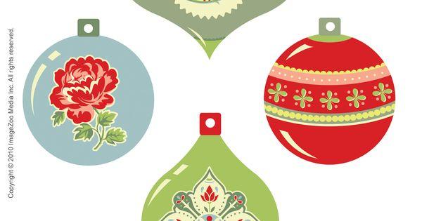 Christmas ornament free printables
