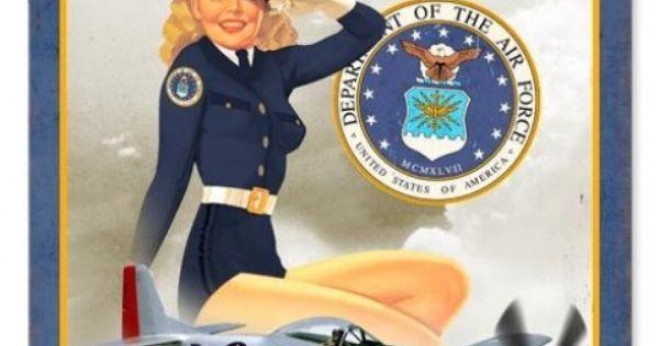 retro us air force girl pinup girl metal sign 18 x 12