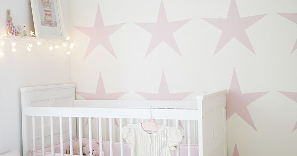 The wallpaper, the string lights. I LOVE stars for a nursery. WALLPAPER Pinterest String ...