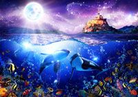 Christian Riese Lassen Artist Dolphin Painting Dolphins Art