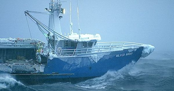 Crabbing boat in the bering sea the most dangerous job in for Crab fishing boat
