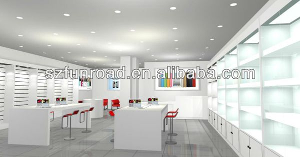 Digital Products Computer Shop Counter Interior Design