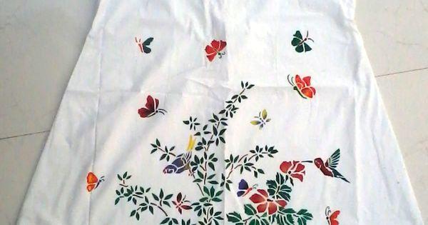 my stencil fabric painting on kurti... | gajjar shilpaa ...