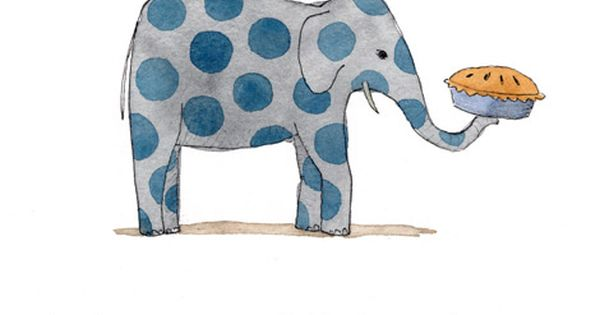 Polka dot elephant picture and poem