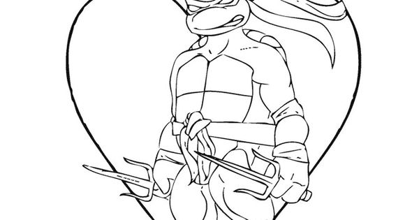 tmnt coloring pages on pinterest - photo#43