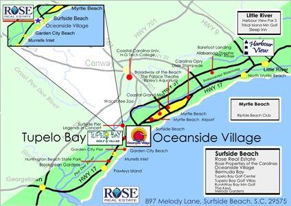 surfside beach south carolina map Map Of Surfside Beach In South Carolina Near Myrtle Beach Our