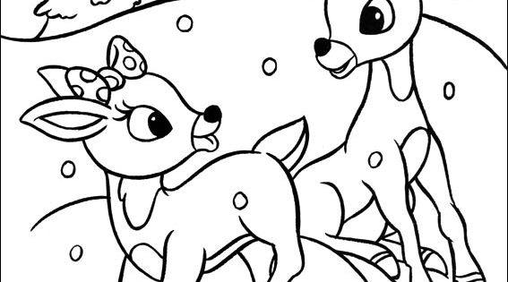 Rudolph the red nosed reindeer coloring picture for Clarice the reindeer coloring page
