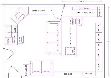 Craft Room Layout Draw Out Your Sewing Room Quilt