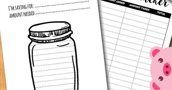 Savings goal tracker, jar savings chart, Budget planner ...