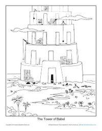 Tower Of Babel Coloring Page Script And Bible Story Http Kidscorner Reframemedia Com Bibl Bible Coloring Pages Sunday School Coloring Pages Tower Of Babel