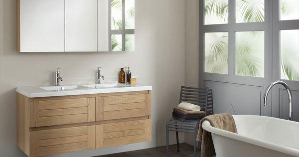 Ensemble lignum de sanijura avec armoire de toilette - Armoire de toilette miroir ikea ...