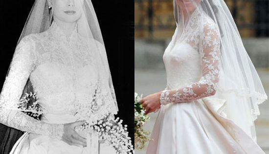Kate middleton channels grace kelly in her gorgeous for Knock off kate middleton wedding dress