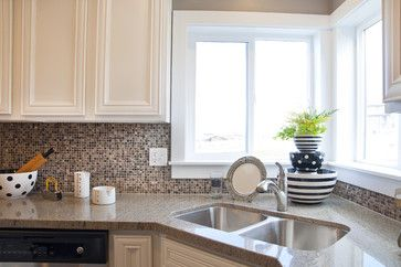 Love This Back Splash Corner Sink Kitchen Kitchen Sink Decor Kitchen Remodel