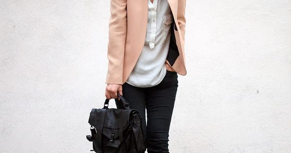 If you're not into white jackets, try blush. ~ LUV JACKETS WITHOUT