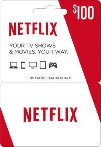 $100 Netflix Gift Card for $85   Netflix gift card, Netflix