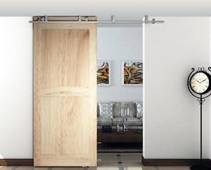 Diyhd Ceiling Mount Bracket Brushed Stainless Steel Sliding Barn Door Hardware Ebay Sliding Doors Interior Wood Doors Interior Doors Interior