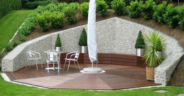 Mur gabion dans le jardin moderne un joli l ment fonctionnel mur de sout - Pente terrasse exterieure ...