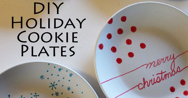 Diy Holiday Cookie Plates Our Best Crafts And Diy