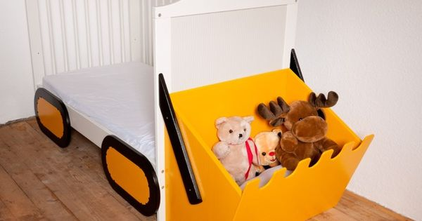 kinderbetten baggerset f r kinderbett spielbett bagger bett ein designerst ck von kanaholz. Black Bedroom Furniture Sets. Home Design Ideas