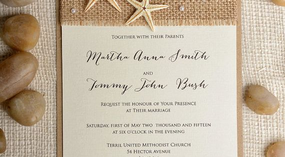 Custom listing (100) Starfish wedding Invitation, Beach Wedding Invitation, Destination Wedding Invitation,