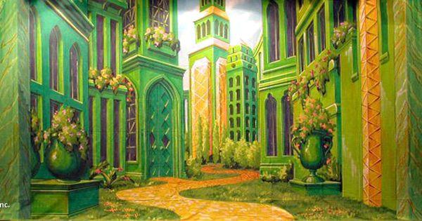 school photo backdrop ideas - Land of Oz Emerald City