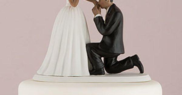 """Figurine mariage noire """"Demande en mariage"""""""