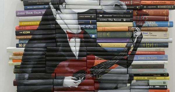 Painted Books Art by Mike Stilkey