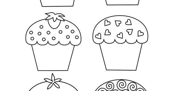Artesanato E Cia: Moldes De Cupcakes (riscos) Postagem