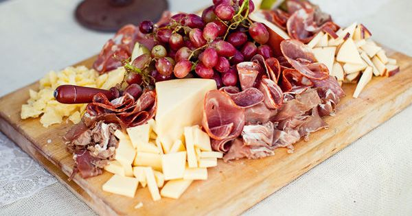 Ham and cheese plate wedding food