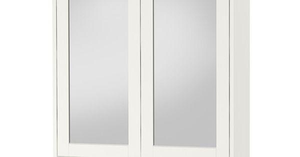 Hemnes armario espejo 2 puertas blanco hemnes - Espejo hemnes blanco ...
